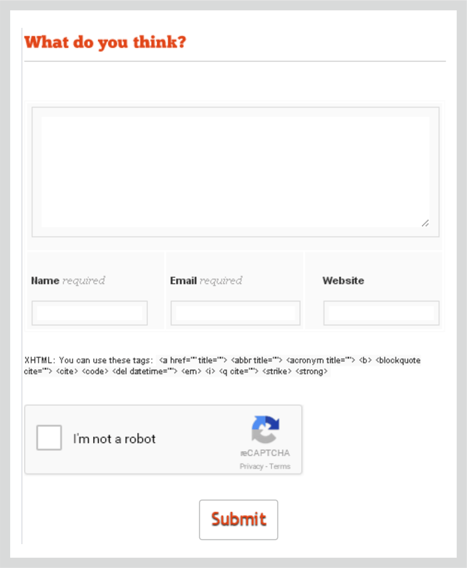 reCAPTCHA in WP comments form plugin: Examples Gallery