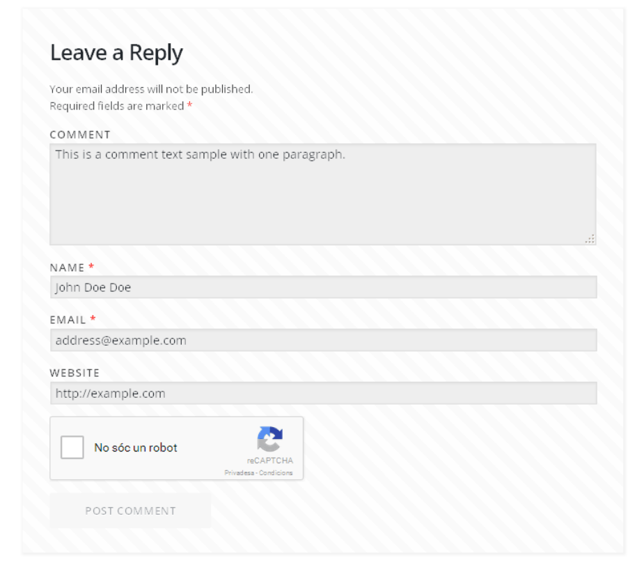 reCAPTCHA in WP comments form plugin — What about WordPress